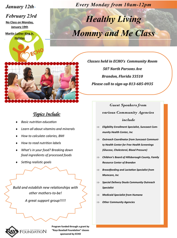 Healthy Mommy & Me Class @ ECHO of Brandon | Brandon | Florida | United States