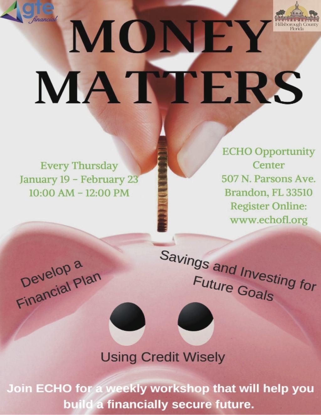 Money Matters @ ECHO Opportunity Center | Brandon | Florida | United States