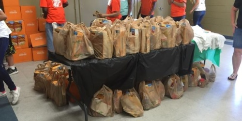 Food Drive by Home Depot employees for ECHO of Brandon