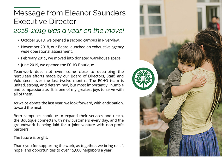 Message from Eleanor Saunders